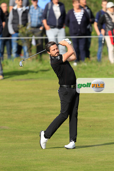 Mike Lorenzo-Vera (FRA) on the 2nd fairway during Round 4 of the 2015 KLM Open at the Kennemer Golf &amp; Country Club in The Netherlands on 13/09/15.<br /> Picture: Thos Caffrey | Golffile