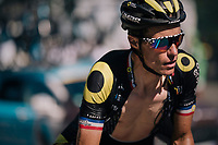 Sylvain Chavanel (FRA/Direct Energie) up the final climb of the day (in Spain!): the Col du Portillon (Cat1/1292m)<br /> <br /> Stage 16: Carcassonne &gt; Bagn&egrave;res-de-Luchon (218km)<br /> <br /> 105th Tour de France 2018<br /> &copy;kramon