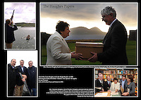 Maureen haughey hands over the Haughey papers to Ionad an Bhlascaoid in 2010.<br /> Picture: Don MacMonagle - macmonagle archive<br /> e: info@macmonagle.com