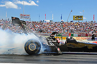 Jun. 2, 2012; Englishtown, NJ, USA: NHRA top fuel dragster driver Brady Kalivoda during qualifying for the Supernationals at Raceway Park. Mandatory Credit: Mark J. Rebilas-