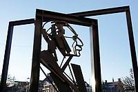 Nederland Den Haag 2019. Monument voor Willem Drees. Danzij deze PVDA politicus werd de AOW ingevoerd. Foto Berlinda van Dam / Hollandse Hoogte