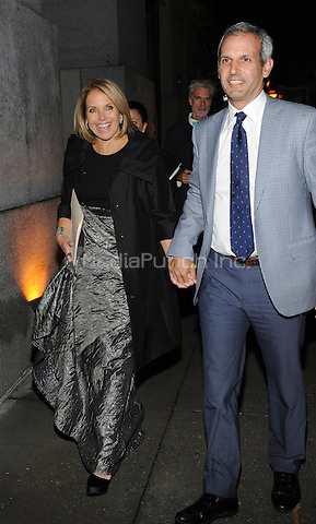 New York, NY- October 23: Katie Couric and John Molner spotted on Wall Street attending the 31st annual FGI Night Of Stars event at Cipriani Wall Street on October 23, 2014 in New York City. Credit: John Palmer/MediaPunch