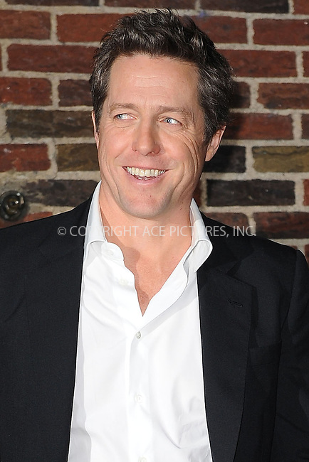 WWW.ACEPIXS.COM . . . . . ....December 14 2009, New York City....Actor Hugh Grant made an appearance at 'The Late Show with David Letterman' on December 14 2009 in New York City....Please byline: KRISTIN CALLAHAN - ACEPIXS.COM.. . . . . . ..Ace Pictures, Inc:  ..(212) 243-8787 or (646) 679 0430..e-mail: picturedesk@acepixs.com..web: http://www.acepixs.com