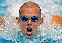 Commonwealth Games. Travis Nederpelt swims the 200m butterfly.