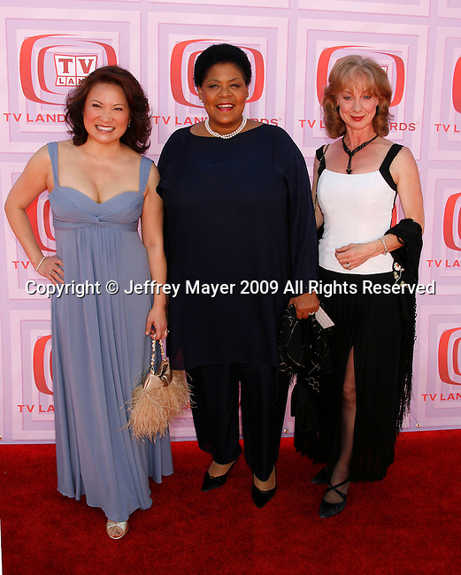 UNIVERSAL CITY, CA. - April 19: Lily Mariye, Yvette Freeman and Ellen Crawford arrive at the 2009 TV Land Awards at the Gibson Amphitheatre on April 19, 2009 in Universal City, California.