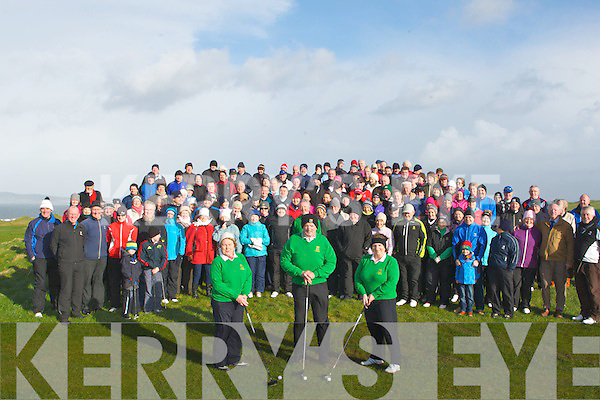 DRIVE: A large crowd gathered at Tralee Golf Club for the Capts of Tralee Golf Club, Driv on Sunday.
