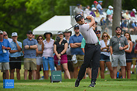 Austin Cook (USA) watches his tee shot on 3 during round 4 of the 2019 Charles Schwab Challenge, Colonial Country Club, Ft. Worth, Texas,  USA. 5/26/2019.<br /> Picture: Golffile | Ken Murray<br /> <br /> All photo usage must carry mandatory copyright credit (© Golffile | Ken Murray)