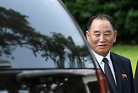 Kim Yong Chol, former North Korean military intelligence chief and one of leader Kim Jong Un's closest aides departs  the White House in Washington on Friday, June 1, 2018.<br /> CAP/MPI/RS<br /> &copy;RS/MPI/Capital Pictures