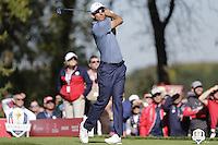 Raffa Cabrera-Bello (Team Europe) on the 8th tee during the Friday afternoon Fourball at the Ryder Cup, Hazeltine national Golf Club, Chaska, Minnesota, USA.  30/09/2016<br /> Picture: Golffile | Fran Caffrey<br /> <br /> <br /> All photo usage must carry mandatory copyright credit (&copy; Golffile | Fran Caffrey)