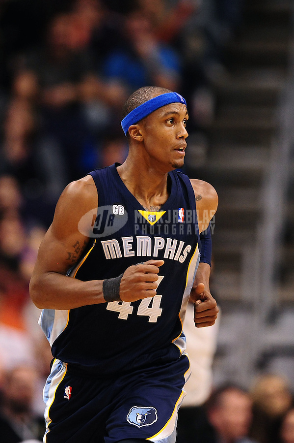 Jan. 28, 2012; Phoenix, AZ, USA; Memphis Grizzlies forward Dante Cunningham against the Phoenix Suns at the US Airways Center. The Suns defeated the Grizzlies 86-84. Mandatory Credit: Mark J. Rebilas-USA TODAY Sports