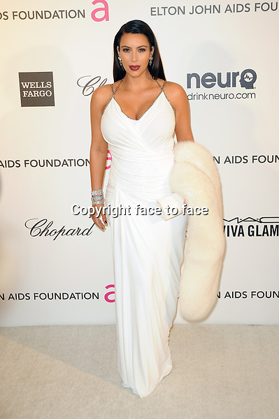 Kim Kardashian at the 21st Annual Elton John AIDS Foundation Academy Awards Viewing Party at Pacific Design Center on February 24, 2013 in West Hollywood, California...Credit: MediaPunch/face to face..- Germany, Austria, Switzerland, Eastern Europe, Australia, UK, USA, Taiwan, Singapore, China, Malaysia and Thailand rights only -