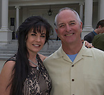 Liza and Joe Bradley during the 48th Annual Nevada Athletics Governor's Dinner at the Governor's Mansion  in Carson City on  Friday, July 8, 2016.