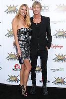 LOS ANGELES, CA, USA - APRIL 23: Susan Holmes, Duff McKagan at the 2014 Revolver Golden Gods Award Show held at Club Nokia on April 23, 2014 in Los Angeles, California, United States. (Photo by Xavier Collin/Celebrity Monitor)