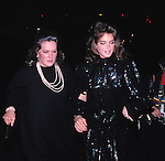 Brooke Shields photographed with mother Teri Shields in New York City. 1982