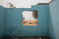 Ghana - Fuveme - A house that was flooded and severely damaged by the ocean waves the day before.
