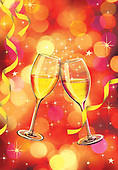 Sharon, CHRISTMAS SYMBOLS, WEIHNACHTEN SYMBOLE, NAVIDAD SÍMBOLOS,New Year's Eve,two glasses,party, GBSS,nepaintings+++++,GBSSC50XNY1,#XX#