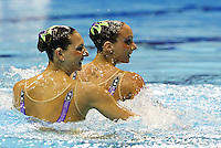 Italy ITA.PERRUPATO Mariangela.LAPI Giulia.London 2012 Olympic Synchronised Swimming Qualification Tournament.Day01 - Duet Technical.Photo Insidefoto / Giorgio Scala.
