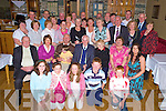 Michael Browne, Killarney, centre, pictured with family and friends as he celebrated his 80th birthday in the Heights Hotel on Friday night....