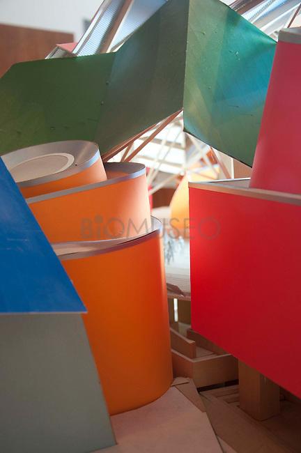 Biomuseo. Museo de la Biodiversidad-puente de vida...Primer edificio diseñado para Latinoamérica por el Arquitecto Frank Gehry...Maquetas del edificio...©Victoria Murillo/Istmophoto.com