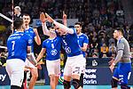 24.02.2019, SAP Arena, Mannheim<br /> Volleyball, DVV-Pokal Finale, VfB Friedrichshafen vs. SVG LŸneburg / Lueneburg<br /> <br /> Jubel Athanasios Protopsaltis (#7 Friedrichshafen), Jakob GŸnthšr / Guenthoer (#12 Friedrichshafen), Jakub Janouch (#8 Friedrichshafen), David Sossenheimer (#5 Friedrichshafen), Daniel Malescha (#11 Friedrichshafen), Jakob GŸnthšr / Guenthoer (#12 Friedrichshafen)<br /> <br />   Foto © nordphoto / Kurth
