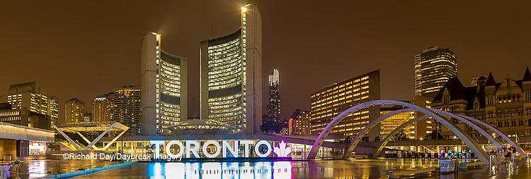 60912-00302 Nathan Phillips Square at night Toronto, Ontario Canada