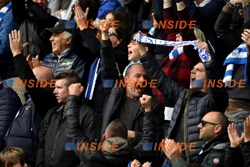SPAL supporters celebrate the victory at the end of the match <br /> Ferrara 13-4-2019 Stadio Paolo Mazza Football Serie A 2018/2019 SPAL - Juventus <br /> Foto Andrea Staccioli / Insidefoto