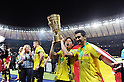 (L-R) Shinji Kagawa, Ilkay Gundogan (Dortmund),.MAY 12, 2012 - Football / Soccer :.Shinji Kagawa and Ilkay Gundogan of Borussia Dortmund celebrate with the trophy after winning the DFB Pokal Final match between Borussia Dortmund 5-2 Bayern Muenchen at Olympiastadion in Berlin, Germany. (Photo by FAR EAST PRESS/AFLO)