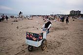 Brooklyn, New York<br /> USA<br /> July 4, 2011<br /> <br /> 4th of July celebration at Coney Island Beach.