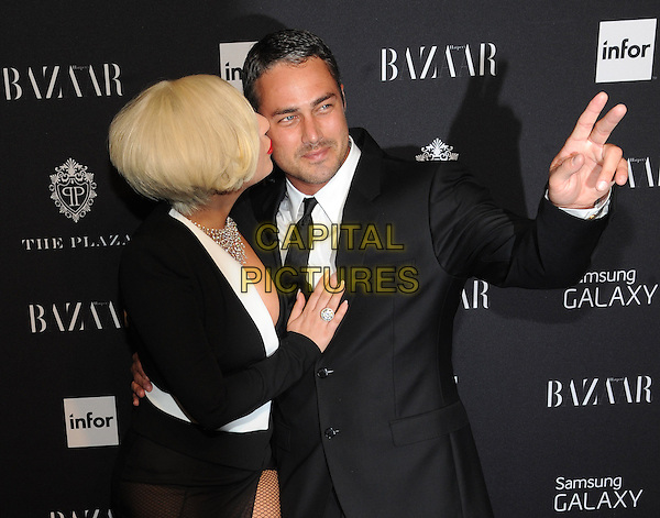 New York, NY-September 5: Lady Gag and Taylor Kinney  attend Harper's Baazar Celebrates Icons By Carine Roitfeld on September 5, 2014 at the Plaza Hotel in New York City.  <br /> CAP/MPI/RTNStevens<br /> &copy;RTNStevens/MediaPunch/Capital Pictures