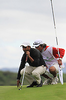 S.S.P Chowrasia (IND) lines up his putt on the 10th green during Day 1 Thursday of The Irish Open presented by Discover Ireland at Killarney Golf & Fishing Club on 28th July 2011 (Photo Jenny Matthews/www.golffile.ie)