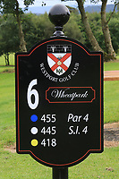 New sign at the 6th tee during the Preview of the AIG Cups & Shields Connacht Finals 2019 in Wesport Golf Club, Westport, Co. Mayo on Thursday 8th August 2019.<br /> <br /> Picture:  Thos Caffrey / www.golffile.ie<br /> <br /> All photos usage must carry mandatory copyright credit (© Golffile | Thos Caffrey)