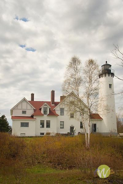Point Iroquois Lighthouse. Whitefish Bay. MI.