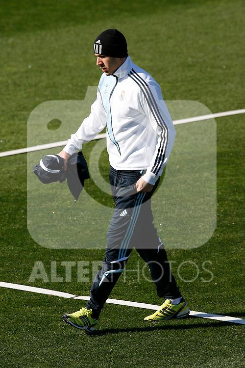 MADRID (09/03/2010).- Real Madrid training session at Real Madrid City in Valdebebas.  Karim Benzema....Photo: Alex Cid-Fuentes / ALFAQUI
