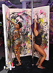Poll Dancer and Painter Performance Artist during The Chashama Gala at 4 Times Square on June 7, 2018 in New York City.
