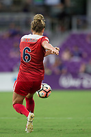 Orlando, FL - Tuesday August 08, 2017: Kassey Kallman during a regular season National Women's Soccer League (NWSL) match between the Orlando Pride and the Chicago Red Stars at Orlando City Stadium.