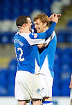 St Johnstone v Queens Park....25.09.12      Scottish Communities League Cup 3rd Round.Liam Craig celebrates his goal.Picture by Graeme Hart..Copyright Perthshire Picture Agency.Tel: 01738 623350  Mobile: 07990 594431