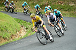 The peloton including Yellow Jersey Chris Froome (GBR) Team Sky during Stage 9 of the 104th edition of the Tour de France 2017, running 181.5km from Nantua to Chambery, France. 9th July 2017.<br /> Picture: ASO/Alex Broadway | Cyclefile<br /> <br /> <br /> All photos usage must carry mandatory copyright credit (&copy; Cyclefile | ASO/Alex Broadway)