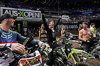 FMX Best Trick - Blake 'Bilko' Williams 1st overall<br /> 2018 SX Open - Sydney <br /> Australian Supercross Championships<br /> Qudos Bank Area / Sydney Aus<br /> Saturday Nov 10th 2018<br /> © Sport the library/ Jeff Crow / AME