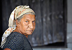 A Roma woman in Suto Orizari, Macedonia. The mostly Roma community, located just outside Skopje, is Europe's largest Roma settlement. .