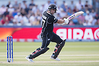 Colin de Grandhomme (New Zealand) cuts during England vs New Zealand, ICC World Cup Cricket at The Riverside Ground on 3rd July 2019