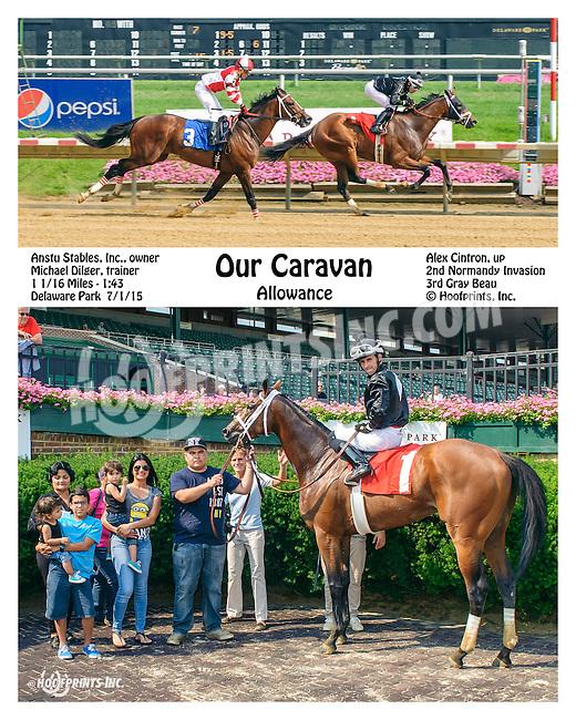 Our Caravan winning at Delaware Park on 7/1/15