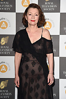 LONDON, UK. March 19, 2019: Leslie Manville arriving for the Royal Television Society Awards 2019 at the Grosvenor House Hotel, London.<br /> Picture: Steve Vas/Featureflash