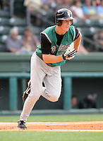 June 5, 2008: Outfielder Garrett Baker (19) of the Augusta GreenJackets, Class A affiliate of the San Francisco Giants, in a game against the Greenville Drive at Fluor Field at the West End in Greenville, S.C. Photo by:  Tom Priddy/Four Seam Images