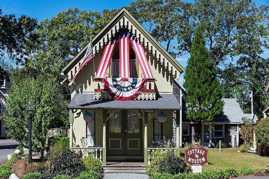 Cottage Museum, Oak Bluffs, Martha's Vineyard, Massachusetts, USA