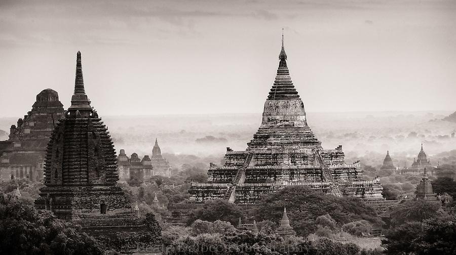 Bagan in monochrome