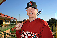 Feb 25, 2010; Kissimmee, FL, USA; The Houston Astros infielder Geoff Blum (27) during photoday at Osceola County Stadium. Mandatory Credit: Tomasso De Rosa/ Four Seam Images