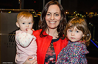 Nicola Mallon, SDLP, MLA, North Belfast, N Ireland, pictured with young family, at Titanic Belfast, 25th January 2018, for launch of Maurice Fitzpatrick&rsquo;s book, John Hume in America: Derry to DC. 201801254821<br /><br />Copyright Image from Victor Patterson, 54 Dorchester Park, <br />Belfast, UK, BT9 6RJ<br /><br />t1: +44 28 9066 1296 (from Rep of Ireland 048 9066 1296)<br />t2: +44 28 9002 2446 (from Rep of Ireland 048 9002 2446)<br />m: +44 7802 353836<br /><br />victorpatterson@me.com<br />www.victorpatterson.com<br /><br />Please see my Terms and Conditions of Use at VICTORPATTERSON.COM. It is IMPORTANT that you familiarise yourself with them.<br /><br />Images used on the Internet must be visibly watermarked i.e. &copy;VICTORPATTERSON.COM within the body of the image and copyright metadata must not be deleted. Images used on the Internet have a size restriction of 4kbs and are chargeable at the then current NUJ rates.<br /><br />This image is only available for the use of the download recipient i.e. television station, newspaper, magazine, book publisher, etc, and must not be passed on to any third party. It is also downloaded on condition that each and every usage is notified within 7 days to victorpatterson@me.com<br /><br />The right of Victor Patterson to be identified as the author is asserted in accordance with The Copyright Designs And Patents Act (1988).