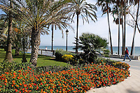 Spain, San Pedro de Alcantara, promenade, paseo maritime, shore, sea, Mediterranean, November, 2015, 201511211832<br />