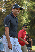 Sergio Garcia (ESP) smiles to the crowd as he departs the 18th tee during round 3 of the World Golf Championships, Mexico, Club De Golf Chapultepec, Mexico City, Mexico. 3/3/2018.<br /> Picture: Golffile | Ken Murray<br /> <br /> <br /> All photo usage must carry mandatory copyright credit (&copy; Golffile | Ken Murray)