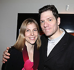 Carolyn Cantor & Adam Rapp attending the Opening Night for the Playwrights Horizons World Premiere Production of 'The Great God Pan' at Playwrights Horizons Theatre in New York City on December 18, 2012